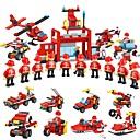 ราคาถูก บล็อกอาคาร-Building Blocks 845 pcs ยานพาหนะ นักรบ ที่เข้ากันได้ Legoing ง่าย ปฏิสัมพันธ์ระหว่างพ่อแม่และลูก ยานพาหนะดับเพลิง สปริงเกลอร์รถบรรทุก ทุกเพศ Toy ของขวัญ