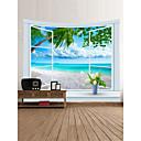 billige Wall Tapestries-Strand Tema Landskap Veggdekor 100% Polyester Klassisk Moderne Veggkunst, Veggtepper Dekorasjon