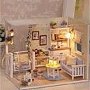 billige Dukkehus-3D Wooden Miniaturas Dollhouse Dukkehus Smuk GDS utsøkt Romantik Møbel Tre Barne Voksne Jente Leketøy Gave