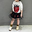 Χαμηλού Κόστους Σετ ρούχων για κορίτσια-Νήπιο Κοριτσίστικα Καθημερινό Καθημερινά Μονόχρωμο Κοντομάνικο Βαμβάκι Ίνα Μπαμπού Σετ Ρούχων Λευκό
