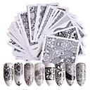 billiga Nagelstämpling-48 pcs Nail Sticker Blomma Överföringspapper