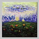 billige Blomster-/botaniske malerier-Hang malte oljemaleri Håndmalte - Abstrakt Blomstret / Botanisk Klassisk Vintage Inkluder indre ramme / Stretched Canvas