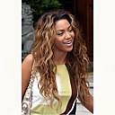 Χαμηλού Κόστους Περούκες από Ανθρώπινη Τρίχα-Χωρίς επεξεργασία Ανθρώπινη Τρίχα Δαντέλα Μπροστά Περούκα Μέσο μέρος Rihanna στυλ Βραζιλιάνικη Κυματιστό Καστανοκόκκινο Περούκα 130% Πυκνότητα μαλλιών / Μαλλιά με ανταύγειες / με τα μαλλιά μωρών
