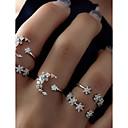 billige Ring Set-Dame Ring Set Midiringe Stable Ringer 5pcs Sølv Legering Sirkelformet damer Uvanlig Unikt design Daglig Stevnemøte Smykker Cluster MOON Stjerne