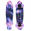 baratos Material de Protecção-22 polegadas Cruisers skate / Skate Completo PP (Polipropileno) ABEC-11 Estrelas Esportes Profissional Roxo Escuro / Vermelho / Verde / Preto + Roxo