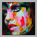 billiga Människomålningar-Hang målad oljemålning HANDMÅLAD - Abstrakt Människor Moderna Utan innerram / Valsad duk