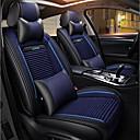 ราคาถูก หมอนอิงในรถ-โฟร์ซีซั่สากลสีดำและสีฟ้าห้าที่นั่งเบาะนั่งรถยนต์ / หนัง pu และผ้าลินินที่นั่งปก / fiadjustable และถอดออกได้ / สองหมอน / สองแผ่นเอว