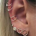ราคาถูก เล็บปลอม-ต่างหูติดหู ต่างหูคลิป ต่างหู Helix Cuff Heart หัวใจกลวง สุภาพสตรี แฟชั่น ต่างหู เครื่องประดับ สีเงิน สำหรับ ทุกวัน เดท 7pcs