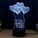 זול אורות 3D הלילה-1set אור תלת ממדי שנה DC מופעל / USB החלפת צבעים / יצירתי / קישוט 5 V 3D
