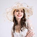 Χαμηλού Κόστους Κορνίζες Υπογραφών & Πιατέλες-Μετάξι Kentucky Derby Hat / Καλύμματα Κεφαλής / Τεμάχια Κεφαλής με Φλοράλ / Βολάν / Πιασίματα 1pc Γάμου / Ειδική Περίσταση Headpiece