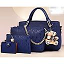 povoljno Pojačivači mobilnog signala-Žene Imajte PU Bag Setovi Kompleti za vrećice 4 kom Crn / Lila-roza / Bijela