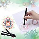 baratos Desenho Brinquedos-Brinquedo para Desenhar Spirograph SUV Tema Clássico Pintura Interação pai-filho Plástico Suave Unisexo Brinquedos Dom 1 pcs