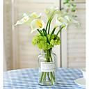 Χαμηλού Κόστους Ψεύτικα Λουλούδια-Ψεύτικα λουλούδια 5 Κλαδί Ποιμενικό Στυλ Κάλλες Λουλούδι για Τραπέζι