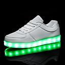 povoljno Odjeća za fitness, trčanje i jogu-Muškarci / Žene Sneakers LED cipele Ravna potpetica LED PU Udobne cipele / Svjetleće tenisice Proljeće / Jesen Obala / Crn / EU40