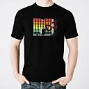 Χαμηλού Κόστους Χωνευτή Τοποθέτηση-LED T-shirt Φωτισμός / Μοδάτο Σχέδιο / Ηλεκτρο-φωτοβόλο Καθαρό βαμβάκι Πάρτι / Καθημερινό 2 AAA Μπαταρίες