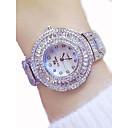 Χαμηλού Κόστους Smartwatch Bands-Γυναικεία Πολυτελή Ρολόγια Ρολόι Φορέματος Diamond Watch Ιαπωνικά Χαλαζίας Ανοξείδωτο Ατσάλι Χρυσό 50 m Χρονογράφος Φωτίζει Μεγάλο καντράν Αναλογικό κυρίες Πολυτέλεια Λάμψη Bling Bling -