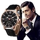 ราคาถูก ภาพจิตรกรรมฝาผนัง-สำหรับผู้ชาย นาฬิกาตกแต่งข้อมือ สายการบิน PU Leather ดำ / เงิน โครโนกราฟ ปุ่มหมุนขนาดใหญ่ ระบบอนาล็อก ความหรูหรา คลาสสิก วินเทจ - ทอง / สีขาว White / สีเบจ Rose Gold / White / หนึ่งปี / สแตนเลส