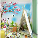 povoljno Zidne tapete-custom ručno nacrtana fantasy crtani kabina 3d veliki wallcovering zidne pozadine opremljena soba restoran djeca