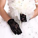 ราคาถูก ถุงมือปาร์ตี้-ลูกไม้ ความยาวข้อมือ ถุงมือ ถุงมือเจ้าสาว / ปาร์ตี้ / ถุงมือราตรี กับ ลายปัก