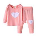 Χαμηλού Κόστους Βρεφικά σετ ρούχων-Μωρό Κοριτσίστικα Καθημερινά Γεωμετρικό Μακρυμάνικο Σετ Ρούχων Ανθισμένο Ροζ / Χαριτωμένο / Νήπιο
