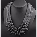 Χαμηλού Κόστους Μοδάτα Σκουλαρίκια-Γυναικεία Κολάρα Κολιέ Δήλωση Υπερμεγέθη Καλώδιο Ρητίνη Μαύρο 55 cm Κολιέ Κοσμήματα Για Πάρτι / Βράδυ Κλαμπ