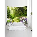 billige Wall Tapestries-Hage Tema Landskap Veggdekor 100% Polyester Klassisk Moderne Veggkunst, Veggtepper Dekorasjon