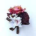 baratos Bouquets de Noiva-Bouquets de Noiva Alfinetes de Lapela / Buquê de Pulso Casamento / Festa Poliéster 3.94 polegada