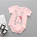 billige Babydrakter-Baby Unisex Trykt mønster Kort Erme Body Rosa / Søtt