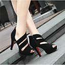 ราคาถูก รองเท้าบูตผู้หญิง-สำหรับผู้หญิง รองเท้าส้นสูง ส้น Stiletto PU ความสะดวกสบาย ฤดูร้อนฤดูใบไม้ผลิ สีดำ / EU39