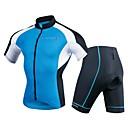 ราคาถูก ชุดรูปแบบภาพยนตร์และทีวี-Realtoo สำหรับผู้ชาย แขนสั้น Cycling Jersey with Shorts สีน้ำเงินกรมท่า สีทึบ จักรยาน ชุดออกกำลังกาย 3D Pad กีฬา เส้นใยสังเคราะห์ สแปนเด็กซ์ สีทึบ ขี่จักรยานปีนเขา Road Cycling เสื้อผ้าถัก / ยืด