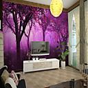 ราคาถูก ภาพจิตรกรรมฝาผนัง-ต้นไม้สีม่วงขนาดใหญ่กำแพงครอบคลุมภาพจิตรกรรมฝาผนังที่เหมาะสำหรับภูมิทัศน์ห้องนอน