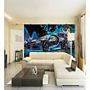 povoljno Zidne tapete-custom sci-fi auto ljepota veliki zidni pokriva zidne pozadine pogodna za uredsku sobu restoran tehnologije