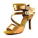 ราคาถูก ชุดเต้น Ballroom-สำหรับผู้หญิง รองเท้าเต้นรำ ซาติน ลาติน / Salsa หัวเข็มขัด / ผูกริบบิ้น รองเท้าแตะ / ส้น ส้นแบบกำหนดเอง ตัดเฉพาะได้ บรอนซ์ / Almond / Nude / Performance / หนังสัตว์ / มืออาชีพ / EU41