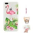 billige Barn Hodeplagg-Etui Til Apple iPhone X / iPhone 8 Plus / iPhone 8 Mønster Bakdeksel Flamingo / Dyr Myk TPU