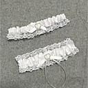 billige Strømpebånd til bryllup-Chiffon Sateng Vintage Stil Bryllupsklær Med Rhinsten / Hjerte / Strikk Strømpebånd Bryllup / Fest / aften