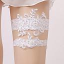 billige Strømpebånd til bryllup-Blonder Vintage Stil Bryllupsklær Med Blonder / Strikk Strømpebånd Bryllup / Fest / aften