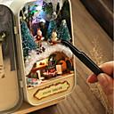 ราคาถูก บ้านตุ๊กตา-Dukkehus Creative DIY Christmas เฟอร์นิเจอร์ ทำด้วยไม้ โรแมนติก 1 pcs ทั้งหมด Toy ของขวัญ