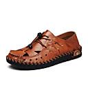 Χαμηλού Κόστους Αντρικά Πέδιλα-Ανδρικά Δερμάτινα παπούτσια Δερμάτινο Καλοκαίρι Δουλειά / Καθημερινό Σανδάλια Περπάτημα Αναπνέει Μαύρο / Κίτρινο / Καφέ