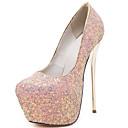 ราคาถูก รองเท้าส้นสูงผู้หญิง-สำหรับผู้หญิง รองเท้าส้นสูง ส้น Stiletto หินประกาย แวววาว กราดิเอเตอร์ / ปั๊มพื้นฐาน ฤดูใบไม้ผลิ / ตก สีดำ / ขาว / สีเขียว / พรรคและเย็น