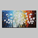 billige Blomster-/botaniske malerier-Hang malte oljemaleri Håndmalte - Abstrakt Blomstret / Botanisk Moderne Inkluder indre ramme / Stretched Canvas
