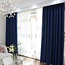 billiga Mörkläggningsgardiner-blackout gardiner gardiner två paneler sovrum solid färgad polyester blandning garn färgad