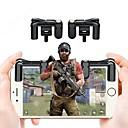 ราคาถูก อุปกรณ์เสริมเกมโทรศัพท์-2 ชิ้นโทรศัพท์มือถือเล่นเกมไก l1r1 shooter ควบคุมสำหรับ pubg มีดออกกฎของการอยู่รอดควบคุมปืนไฟปุ่ม