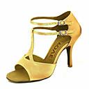 ราคาถูก รองเท้าแบบลาติน-สำหรับผู้หญิง รองเท้าเต้นรำ ซาติน ลาติน / Salsa หัวเข็มขัด / ผูกริบบิ้น รองเท้าแตะ / ส้น ส้นแบบกำหนดเอง ตัดเฉพาะได้ บรอนซ์ / Almond / Nude / Performance / หนังสัตว์ / มืออาชีพ / EU40