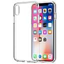 billige iPhone-etuier-Etui Til Apple iPhone X / iPhone 8 Plus / iPhone 8 Gjennomsiktig Bakdeksel Ensfarget Myk TPU