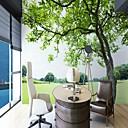 ราคาถูก ภาพจิตรกรรมฝาผนัง-ภูมิทัศน์ต้นไม้สีเขียวที่กำหนดเอง wallcovering 3D วอลล์เปเปอร์จิตรกรรมฝาผนังที่เหมาะสมสำหรับสำนักงานห้องนอนห้องนอนห้องพักเด็กของเด็ก
