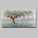 Χαμηλού Κόστους Αφηρημένοι Πίνακες-Hang-ζωγραφισμένα ελαιογραφία Ζωγραφισμένα στο χέρι - Τοπίο Άνθινο / Βοτανικό Μοντέρνα Περιλαμβάνει εσωτερικό πλαίσιο / Επενδυμένο καμβά