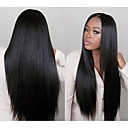 povoljno Ukrasi na tijelu-Remy kosa Lace Front Perika Kardashian stil Brazilska kosa Ravan kroj Perika 130% Gustoća kose s dječjom kosom 100% Djevica Žene Dug Perike s ljudskom kosom beikashang