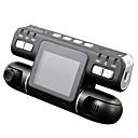Χαμηλού Κόστους DVR Αυτοκινήτου-F105 1080p Νυχτερινή Όραση / Παρακολούθηση 360 ° / Διπλός φακός DVR αυτοκινήτου 120 μοίρες Ευρεία γωνεία CMOS 2.7 inch LCD Dash Cam με Ανίχνευση Κίνησης Εγγραφή αυτοκινήτου