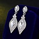 billiga Modeörhängen-Dam Dropp Örhängen Enkel Europeisk Mode örhängen Smycken Silver Till Bröllop Dagligen