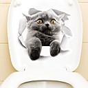 povoljno Zidne naljepnice-Frižider Naljepnice Naljepnice za WC - Naljepnice za zidne zidove Životinje 3D Stambeni prostor Spavaća soba Kupaonica Kuhinja Trpezarija